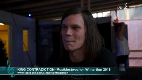 King Contradiction - Interview an den 41. Musikfestwochen