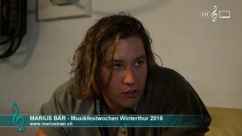 Marius Bär - Interview an den 41. Musikfestwochen